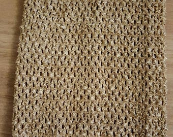 STRAPLESS stretch 2-6 years Taupe, light brown crochet for making dress TUTU