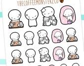 stress / work overload emotis - emoti planner stickers E141
