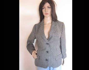 Vintage Pepita Blazer jacket Eduard Dressler S / m