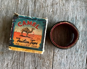 Camel Friction Tape and Vintage Box |  Vintage Camel Box