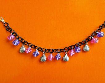 Bracelet Charms Lucky Ladybugs nuts