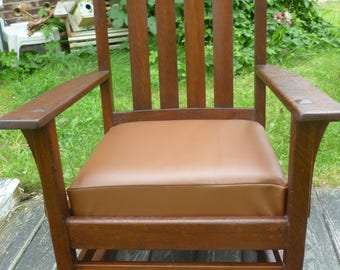 antique Stickley rocking chair with original label