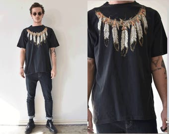 sale sale saleVintage Native American Feather Chain Tshirt