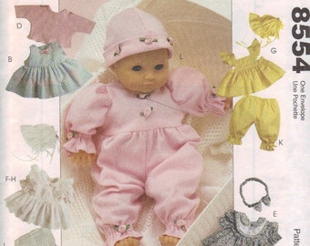 McCall's Crafts Pattern 8554, Doll Clothes