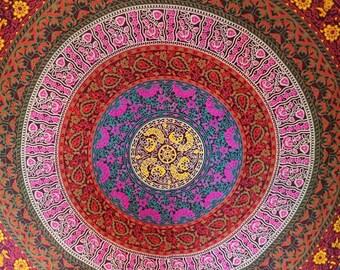 Mandala throw, Mandala, throw, bed cover, picnic blanket, beach blanket, tablecloth, boho, hippie, gifts for her