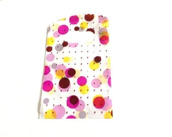 5 bags for jewelry-multicolor dots print