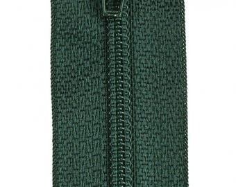 """Forest Green 14"""" All Purpose Polyester Coil Zipper from Coats and Clark, Green"""