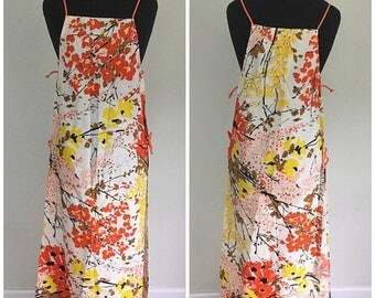 Summer Start Sale Vintage 1960s Vera Apron Smock - Vera Neumann Aprons Dress