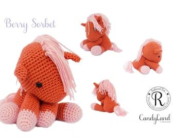 Orange Horse Unicorn Pegasus Pegacorn plush toy