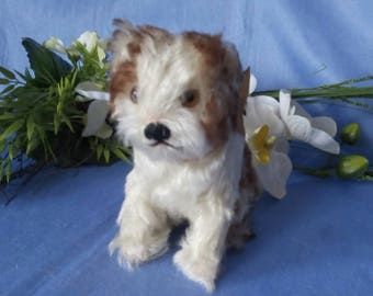 Beautiful vintage Steiff puppy MOLLY, 14 cm, with button