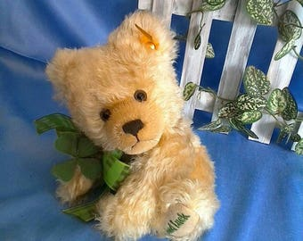 Steiff little GOOD LUCK bear, 20 cm, curly long mohair,