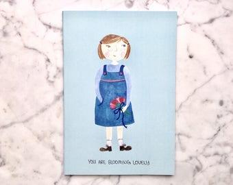 Notebook flower girl