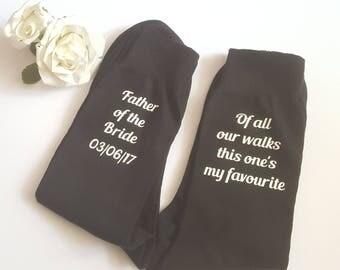 Father Of The Bride Socks, Personalised Socks, Wedding Socks