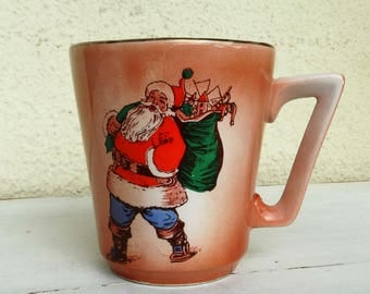 Christmas mug her Xmas tea mug funny coffee mug Santa mug mugs vintage Portuguese Christmas made in Portugal