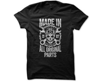 Made In 1987 Shirt | Garage Shirt | Motorcycle Shirts For Men | 30th Birthday For Him | Mechanic Shirt Vintage | 30 Years Old | Turning 30