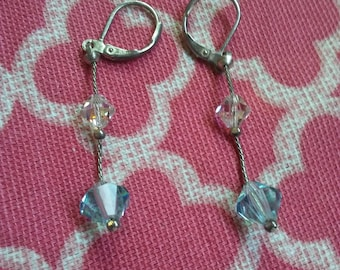 Swarovski vintage drop earrings