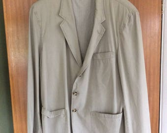 Men's, Marks and Spencer, St. Michael, Kharki, Cotton Jacket, Size 40 (Medium)