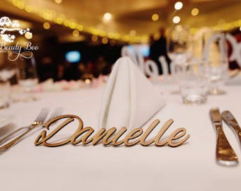 200 Pk   Personalised Wedding Place Cards   Guest Names    Laser Cut Names   Custom Wedding Signs   Wooden Place Names   Arcylic Place Names