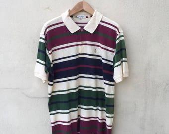 Vintage Ysl Stripes Polo Shirt