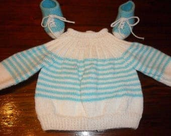 """book Ewenn"" jacket or vest baby acrylic yarn """""