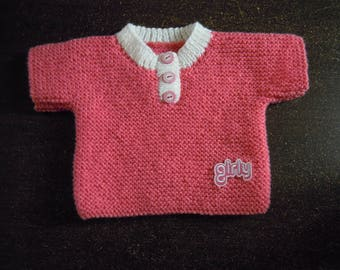 baby girl hand knitted sweater size 3 months