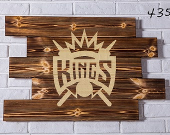 Sacramento Kings Wood Sign Sacramento Kings Wall art Sacramento Kings Gift Sacramento Kings Birthday Sacramento Kings Party wooden