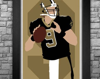 DREW BREES minimalism style limited edition art print. Choose from 3 sizes!