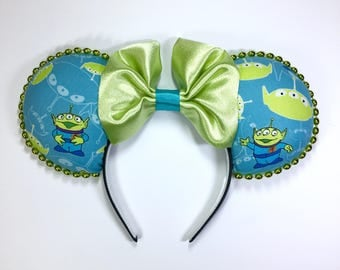 Green Alien Guy Mouse Ears