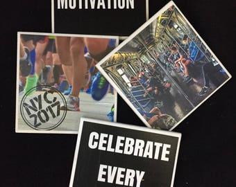 Runner coasters, gift for runner, gift under 10, runner quotes