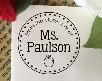 From The Classroom Of Stamp, Teacher Stamp, Classroom Book Stamp, Self Inking Stamp, Rubber Stamp, Custom Teacher Name Stamp, Teacher Gift