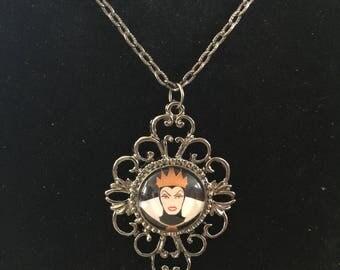 Evil Queen necklace -Disney villain necklace-Vintage  necklace