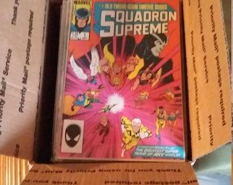 Marvel DC Medium Flat Rate Box Of Comics Approx 50