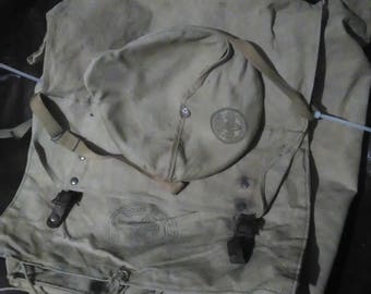 Vintage Boy Scout Backpack and Mess Kit