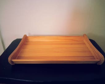 Small Wooden Tray / Basket to store & carry small items - Vintage Swedish item