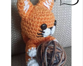 Amigurumi Cat Pattern - Crochet Cat Pattern - Duvel the Little Cat