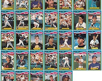 1988 Topps Baseball Rookies Toys R Us Exclusive 33 Card Set