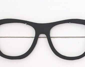 Glasses cut out, laser cut, nerd glasses