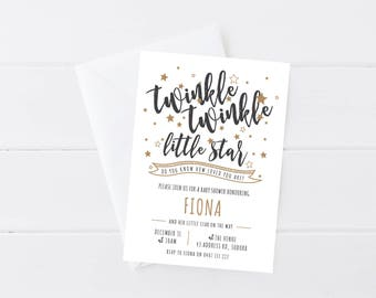 Twinkle Twinkle Baby Shower Invitation | Twinkle Twinkle Little Star | Baby Sprinkle Invitation | Printable Baby Shower Invitation