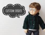 Custom Listing for Heidi, AG Doll Wig for Custom Doll, Rainbow