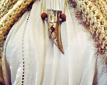 Dragon Tooth,LARP,Fantasy Necklace, Fantasy Ren Faire Pendant, Medieval Costume, Cosplay Necklace, Dragon Runes, Fantasy Fairy Tale Pendant
