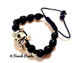 skull black shambala bracelet