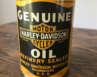 Genuine Harley Davidson Motor Cycle Oil  Quart Can
