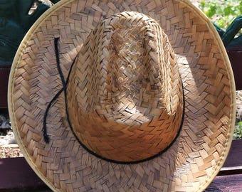 Vintage Adult Cowboy Hat with Black String