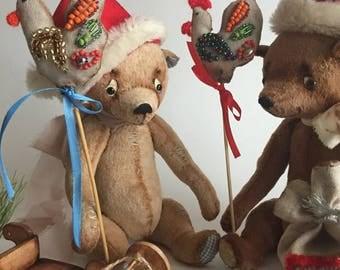 Teddy Bear, Stuffed Bear, Artist teddy bear, gift for her bear, Plush Toy, Ooak  Bear, stuffed plush bear, Dolls For Sale, Bear Gift