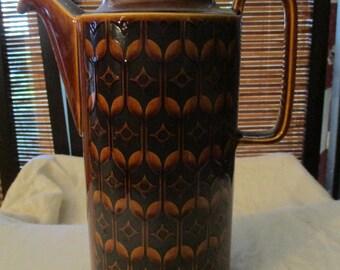 Retro Vintage Hornsea England Heirloom Brown Coffee Pot (1975)
