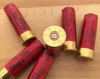 SPECIAL LOT*** Empty Shotgun Shells 6 Red with Brass Base RST 2.50'' 12 Gauge