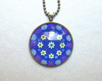 Bohemian Flower Necklace Daisies Gift for Girlfriend Birthday Flower Mandala