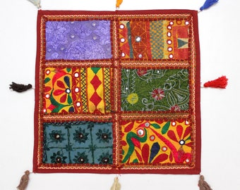 Handmade Hippie Gypsy Home Decor Ethnic Multi color Embroidered Hippy Patchwork Bohemian Pillow Shams Couch Cushion Cover Case G795