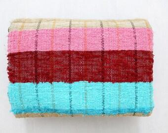 Handmade Hand woven Chindi Area Rugs Rectangular Carpet Durrie Recycled Bohemian Beach Garden Yoga Mat Indian Floor Kilim Counterpane I618