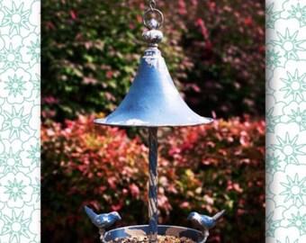 Cottage Bird Feeder // Vintage // Primitive // Industrial // Vintage Farmhouse // Garden Decor // Gardening // Garden // Outdoor Decor